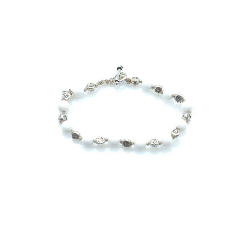 ted,bracelet,lave,argent,perles bénitier