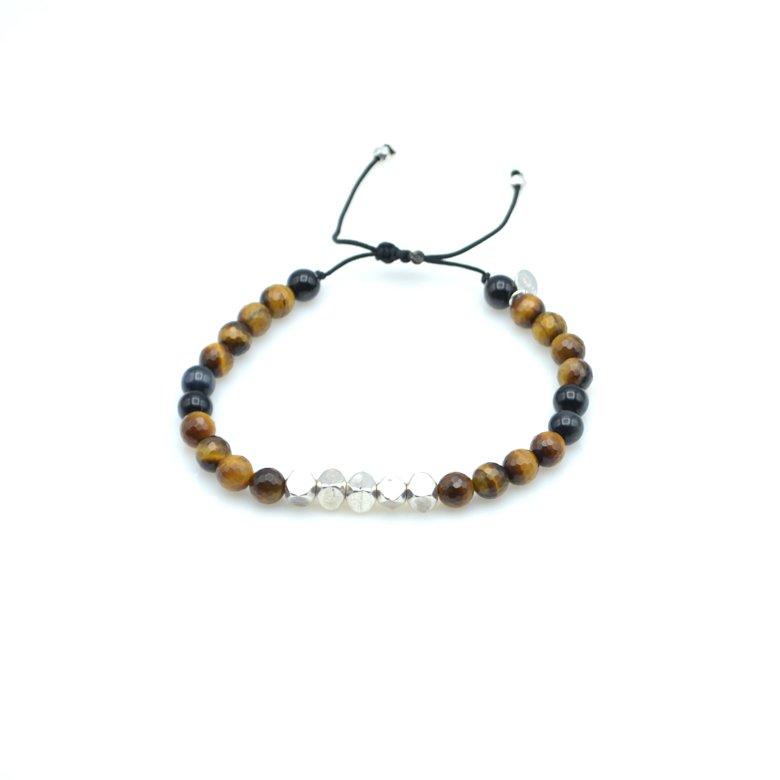 Bracelet oeil de tigre homme, bracelet oeil du tigre, bracelet pierre oeil de tigre, perle oeil de tigre