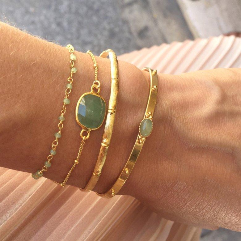 elsa,bracelet,jonc bambou,mya,delhi,plaqué or,photo portée