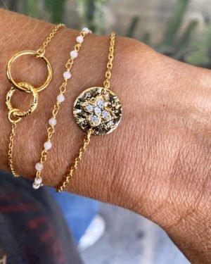Bracelet,capri,delhi,plaque or,pepite bijoux,paris,france,st honoré