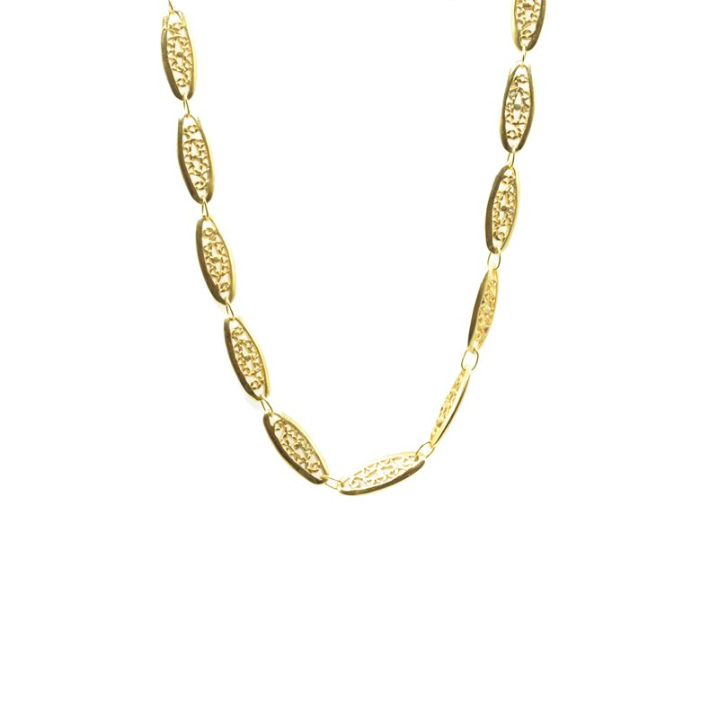 Abel, collier à maillons, collier à maillons plaqué or femme, collier femme plaqué or, créateur de bijoux fantaisie paris