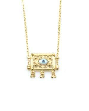 collier, aton,plaqué or,pepite bijoux,paris,rue st honoré,paris,oeil,nacre