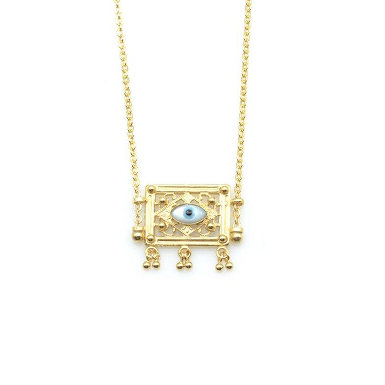 Collier oeil, collier oeil or, collier oeil fantaisie, créateur de de bijoux fantaisie paris