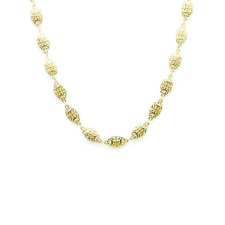 collier, lise,plaqué or, collier dentelé, collier oriental, créateur de bijoux fantaisie