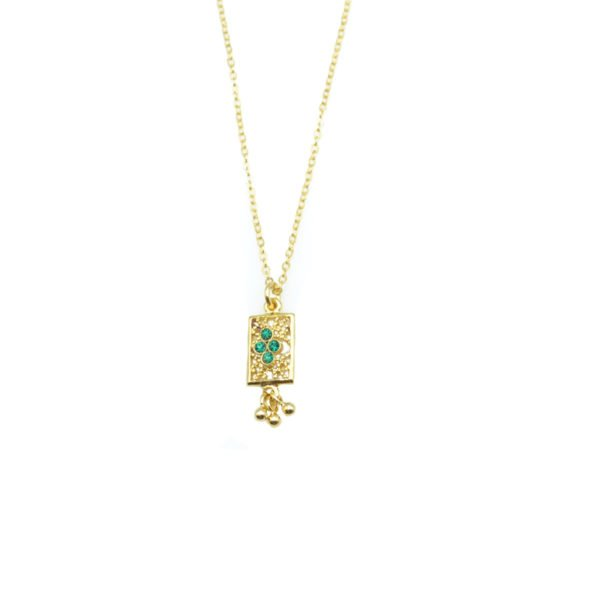 collier, tara,plaqué or,pepite bijoux,paris,rue st honoré,paris,emmeraude