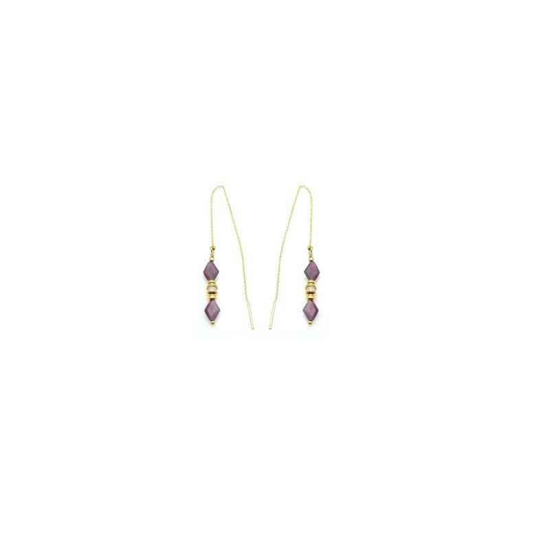 Boucles d'oreilles pendantes originales, boucles d'oreilles pendantes, boucles d'oreille avec pierres fines, bijoux paris, bijouterie fantaisie paris