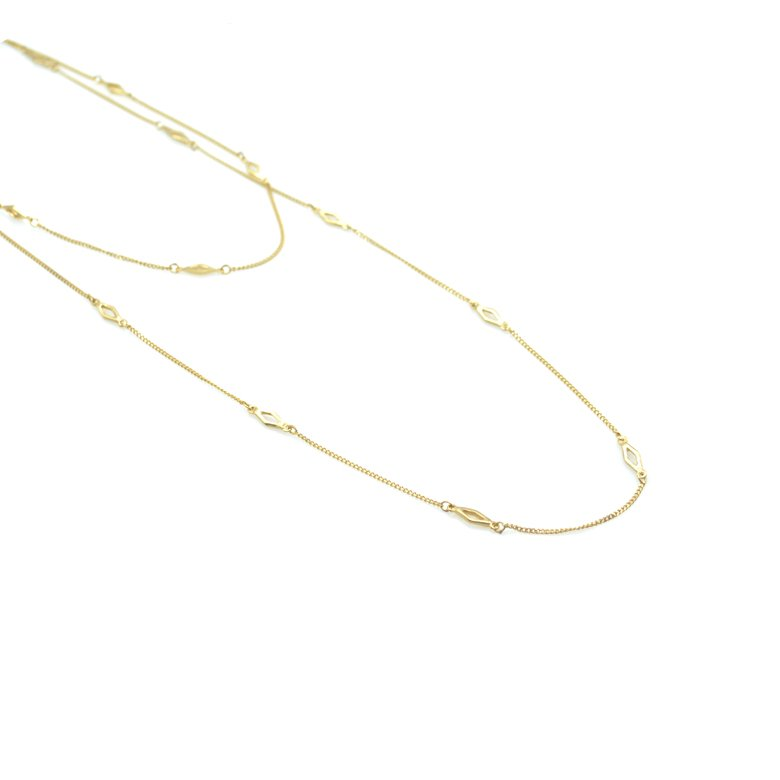 sautoir géométrique, iris,plaqué or,pepite bijoux,paris,rue st honoré,paris, créateur de bijoux paris, bijoux fantaisie