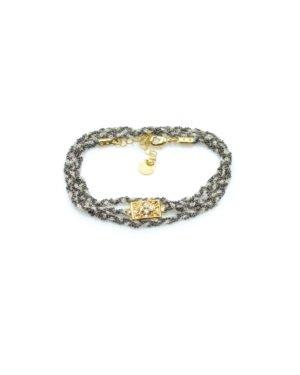 bracelet,chaine tréssé, tara,plaqué or,pepite bijoux,paris,rue st honoré,paris,