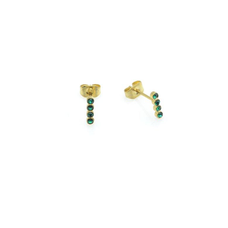 boucles d'oreilles, vic,plaqué or,pepite bijoux,paris,rue st honoré,paris,emmeraude,