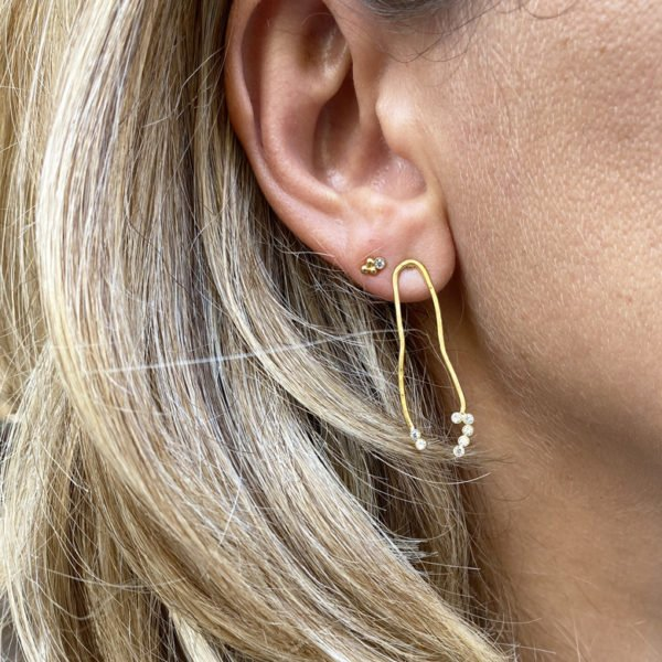 Boucles d'oreilles ,vic,plaque or,pepite bijoux,paris,france,st honoré