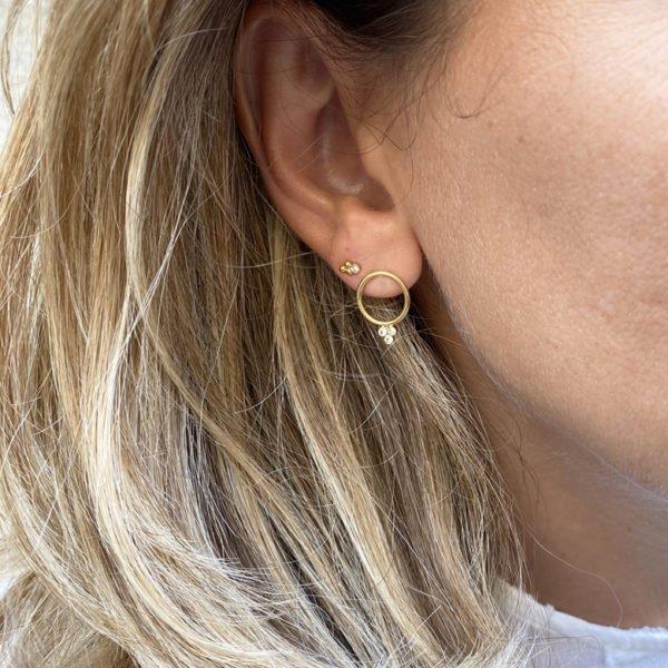 Boucles d'oreilles ,vic,plaque or,pepite bijoux,paris,france,st honoré anneaux grappe