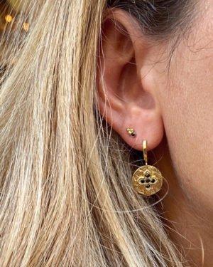boucles d'oreilles,kate,spinelle,cristal,capri,plaqué or,paros pépitebijoux,france