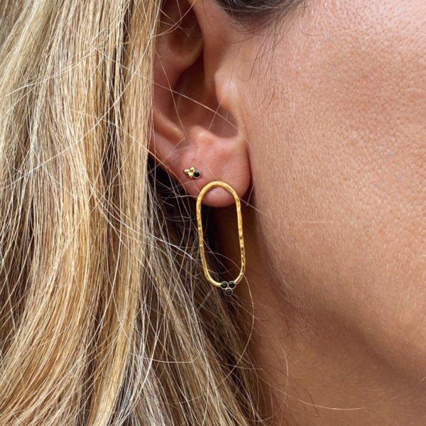 Boucles d'oreilles,kate,plaqué or,paris pépitebijoux,france