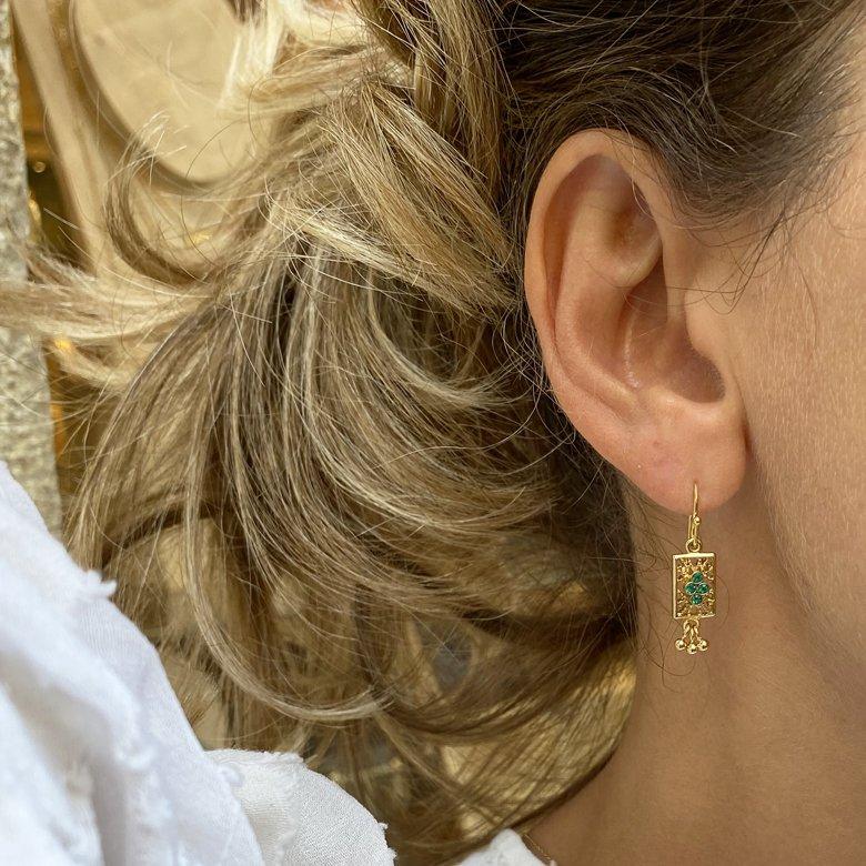 boucles d'oreilles tara,plaque or,pepite bijoux,paris,france,st honoré