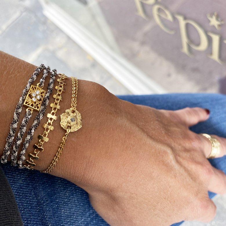 bracelet labradorite tara,plaque or,pepite bijoux,paris,france,st honoré