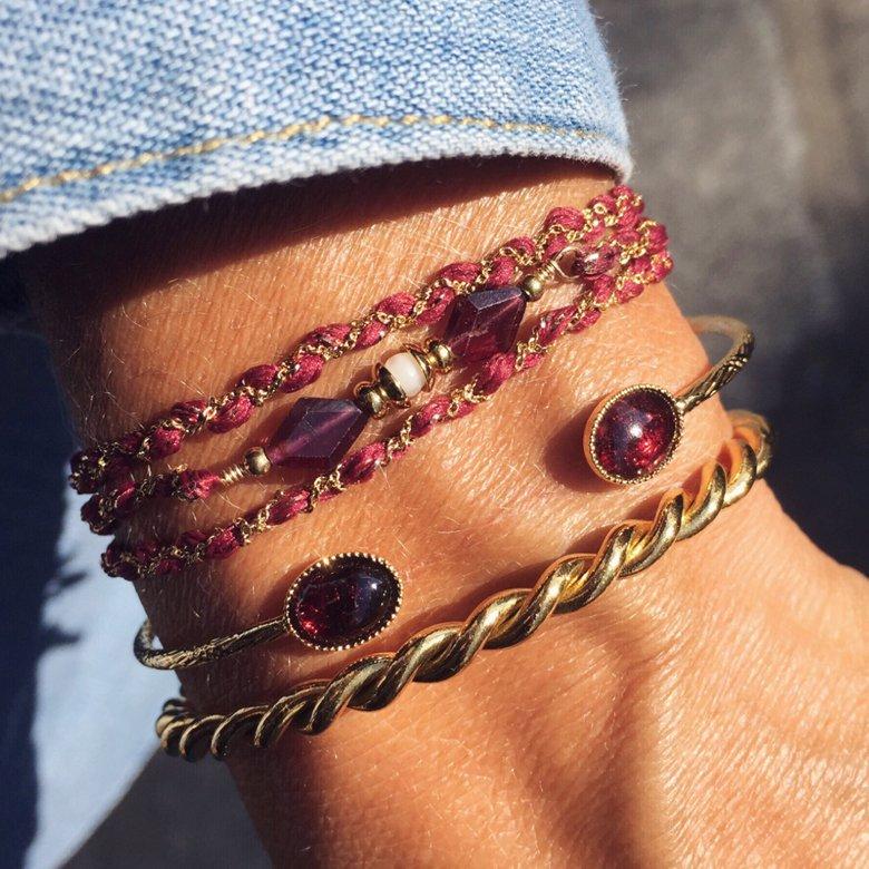 Bracelet multi-tours, bracelet tressé, créateur de bijoux fantaisie paris, site de bijoux, bijoux fantaisie paris