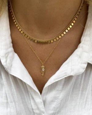 collier,tara,elia,plaque or,pepite bijoux,paris,france,st honoré