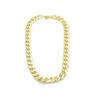 bijoux créateur, collier, collier chaîne grosse maille, joe, or, pepite bijoux, plaqué or