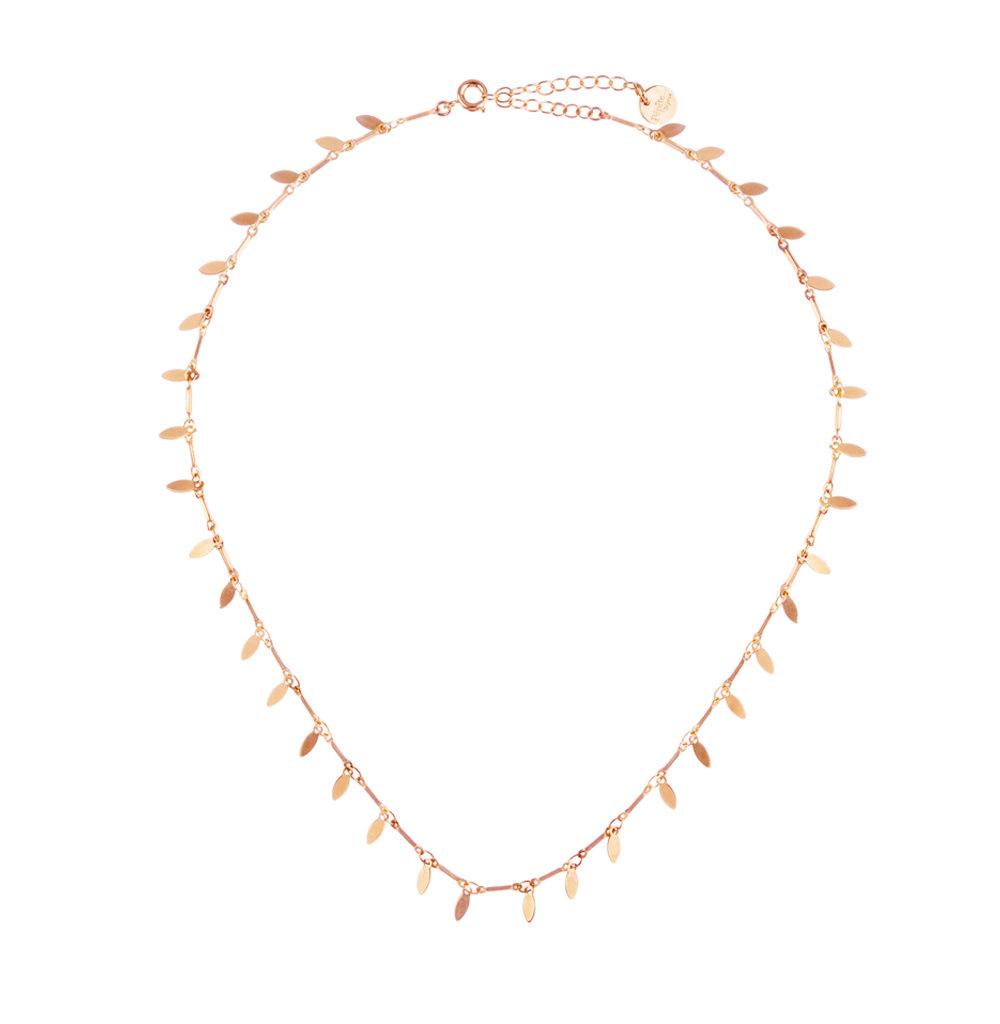 Boutique créateur bijoux paris, collier bohème or, collier or femme, myosotis, or rose, pepitebijoux