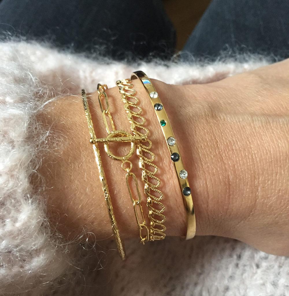 bracelet fantaisies, jess,constelation, lea,seventy,doré à l'or fin 24 carats, bijoux créateur fantaisie paris, bijoux fantaisie, bijoux de créateur