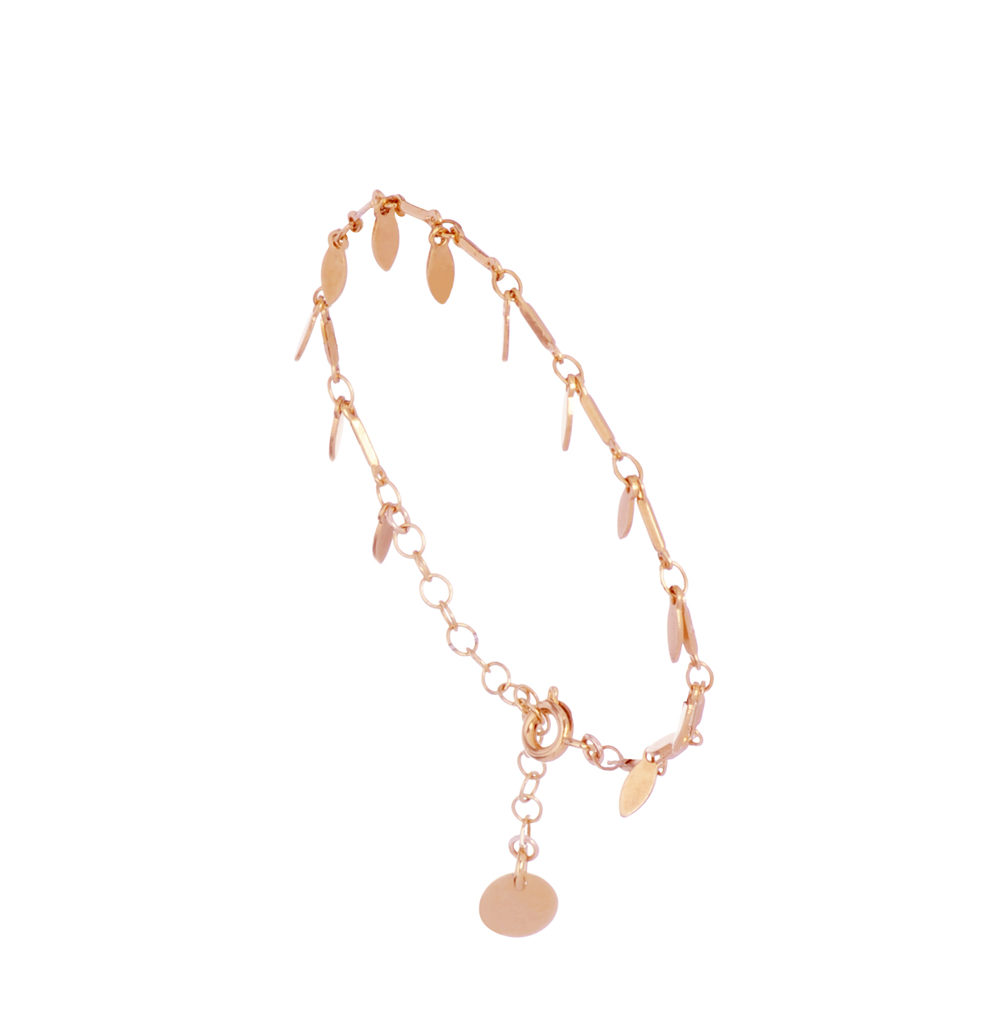bijouterie paris, bijoux femme, bracelet bohème or, myosotis, or rose, pepitebijoux