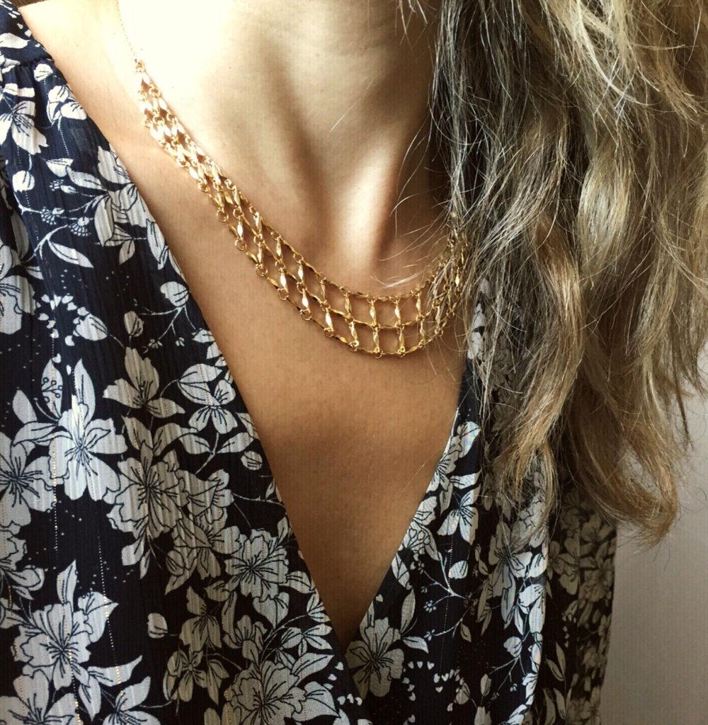 collier,romy,plaqué or