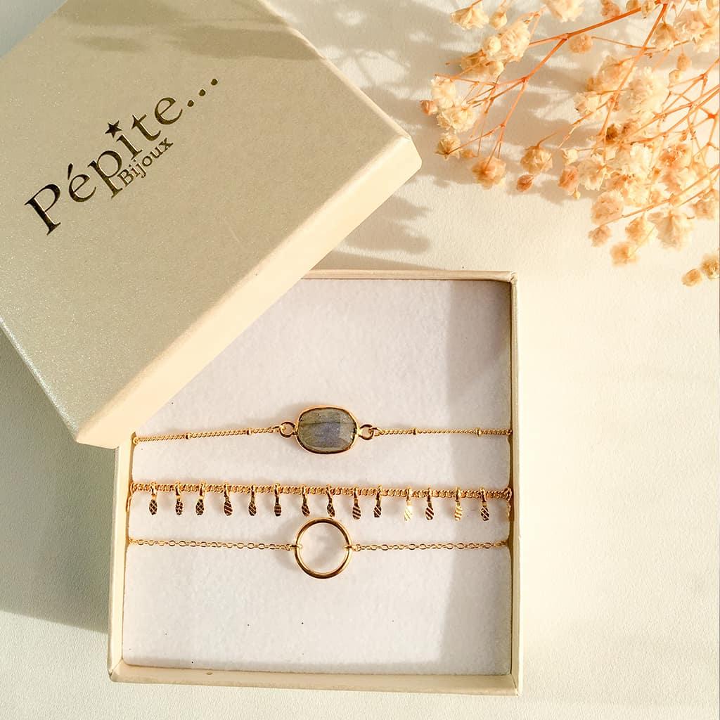 Bijoux fait main paris, bijoux femme, coffret bijoux, coffret bracelet femme, elsa