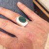 bague lea malachite pépite bijoux argent photo portée argent