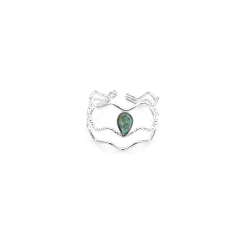 bague fine femme, bague géométrique, bague pierre naturelle, bague pierre semi précieuse, bague zigzag, clara, créateur de bijoux paris