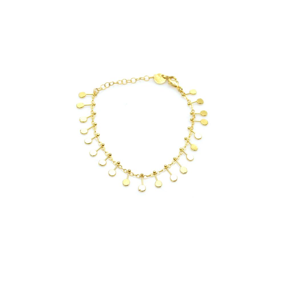 Bracelet bohème, Bracelet breloques, bracelet femme, bracelet pampilles, bracelet pastilles, créateur de bijoux fantaisie