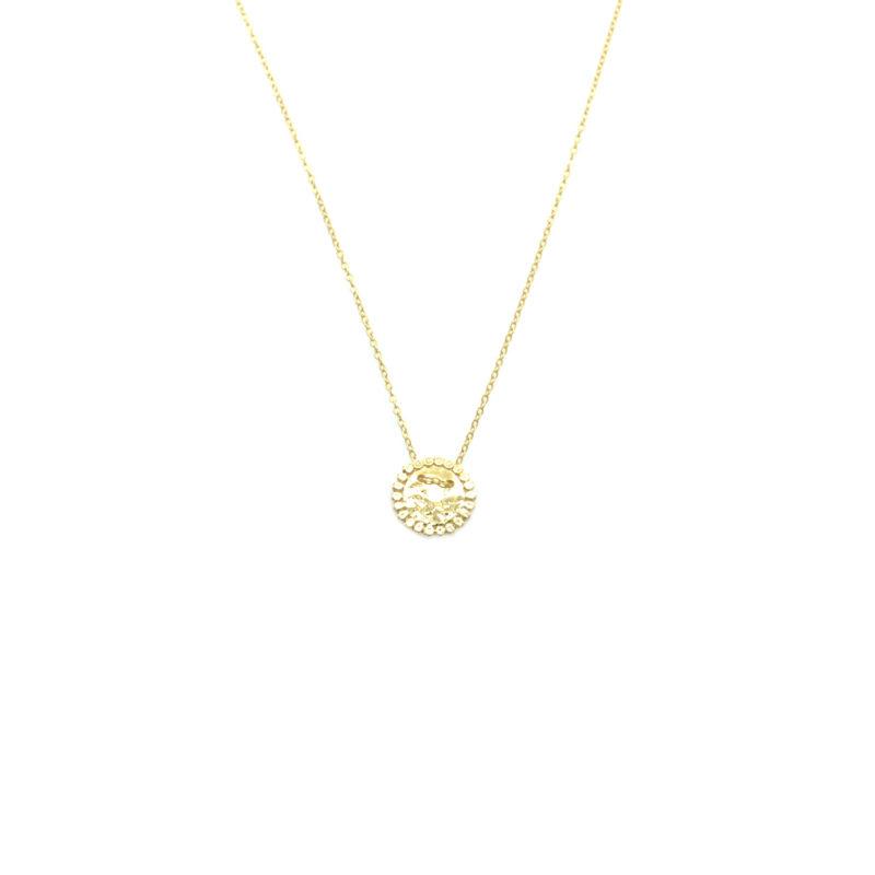 angelina, bijoux de créateur paris, Bijoux fantaisie femme, collier pastille, Collier plaque, Collier plaque martelée, collier plaqué or