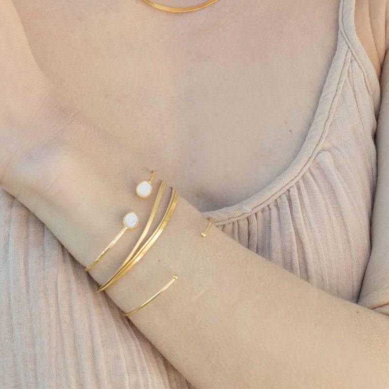 Bracelet maille anglaise, bracelet maille femme or, bracelet maille anglaise femme en or, bracelet fantaisie, bracelet tendance, créateur de bijoux fantaisie paris