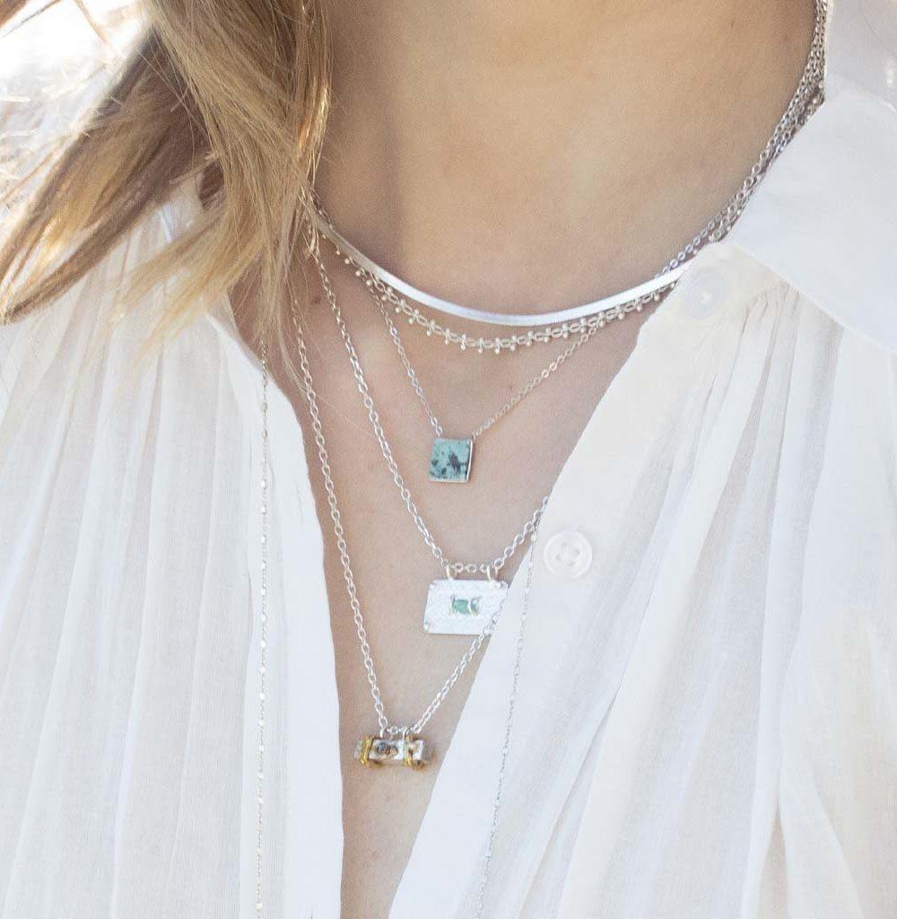 collier en argent 925, collier en argent et pierre naturelle, collier en argent et jaspe africain, collier jaspe africain femme, créateur de bijoux fantaisie paris, bijoux ethniques.