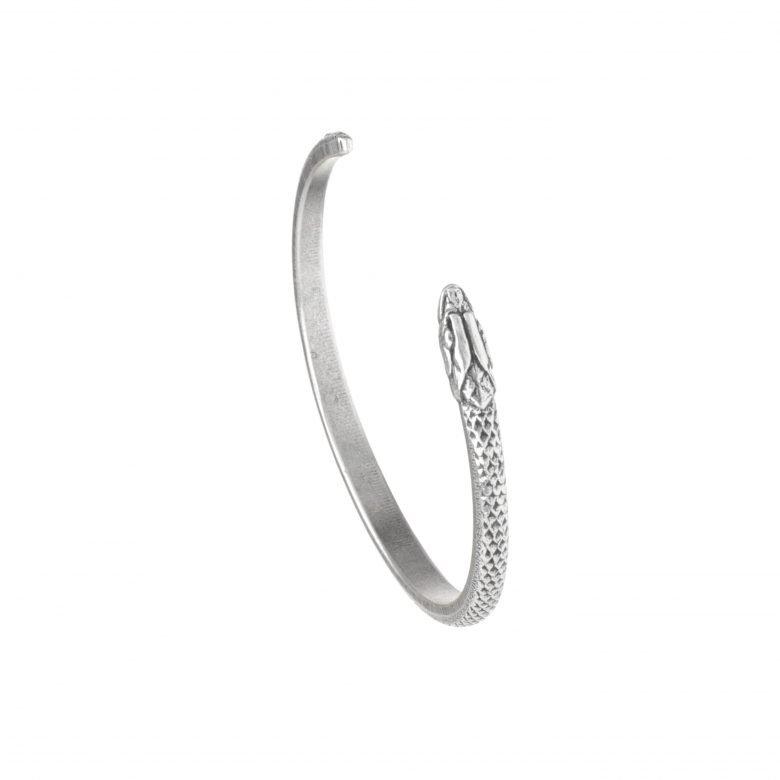 bijoux créateur, bijoux en argent, Bracelet serpent argent, cobra, jonc, pepite bijoux