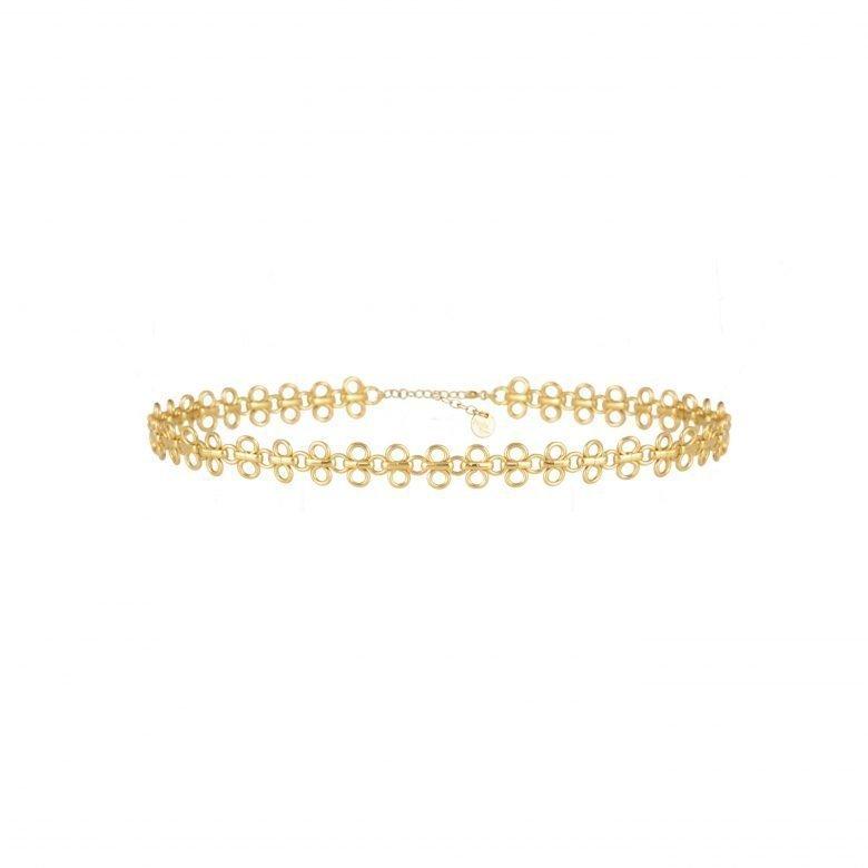 bijoux en plaqué or, chocker, collier choker, créateur de bijoux fantaisie paris, dentelé, paradise, pepitebijoux