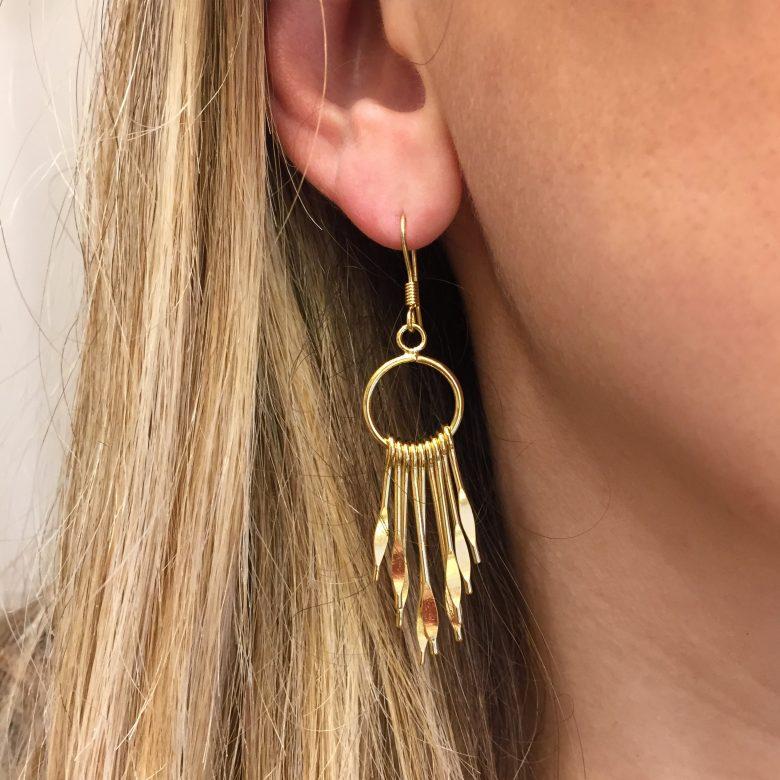 gipsy, pepitebijoux,bijoux en plaqué or, boucles d'oreilles ethnique, bijoux fait main paris