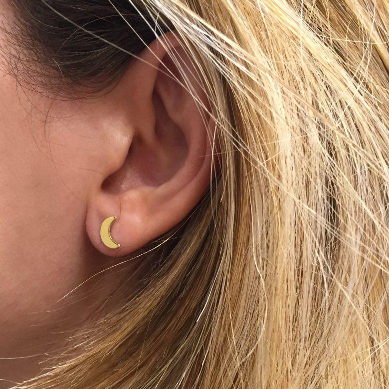 Boucles d'oreilles corne asymétrique