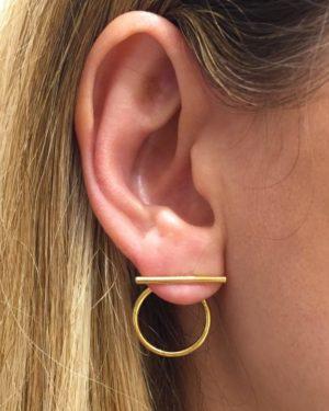 Boucles d'oreilles anneau barette