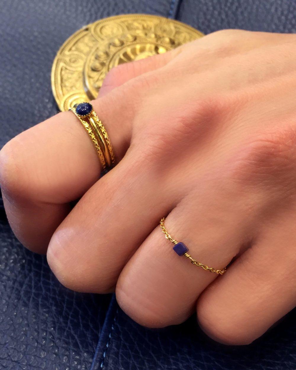 Bague anneaux lisse