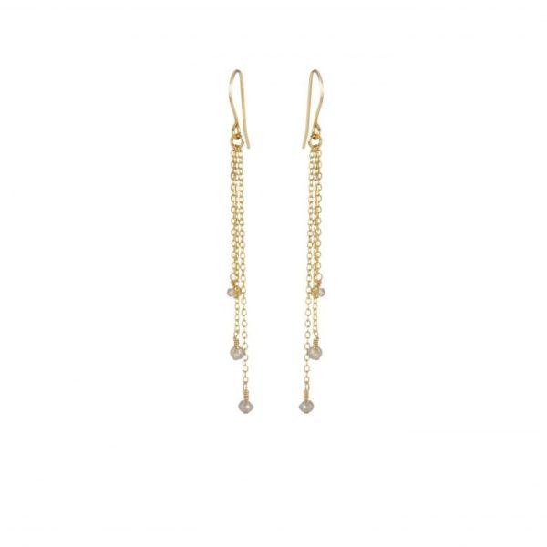 Boucles d'oreilles trois perles