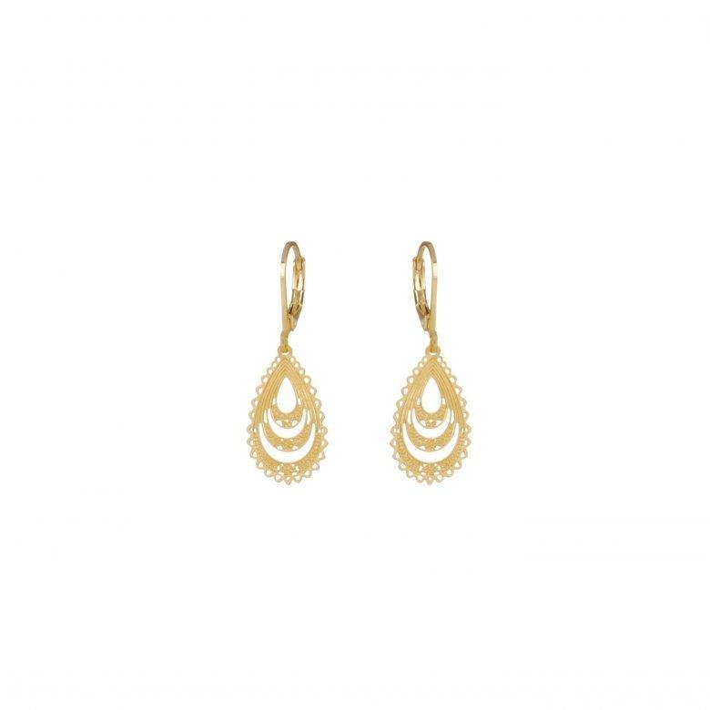 Boucles d'oreilles goutte, boucle d'oreille créateur, boutique créateur bijoux paris, or, bijoux en plaqué or,