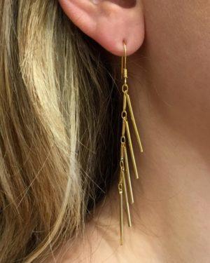 Boucles d'oreilles, Louise,pepitebijoux,plaque or,photo portée