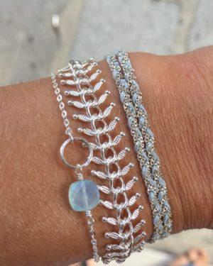 Bracelet Albane anneau argent