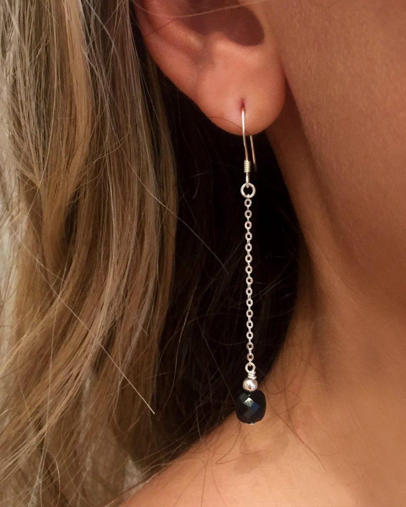 Boucles d'oreilles Albane argent