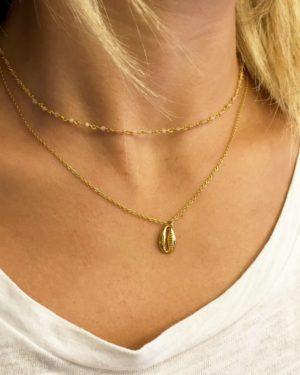 collier,delhi,plaqué or,pépitebijoux,mer