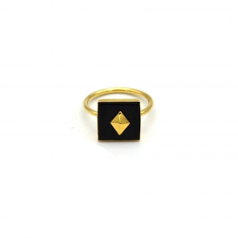 pépite bijoux,plaqué or,emma,onyx