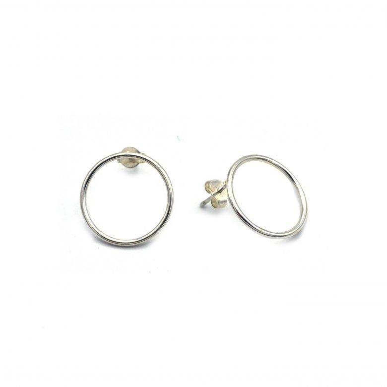 Puces anneaux argent Roxane