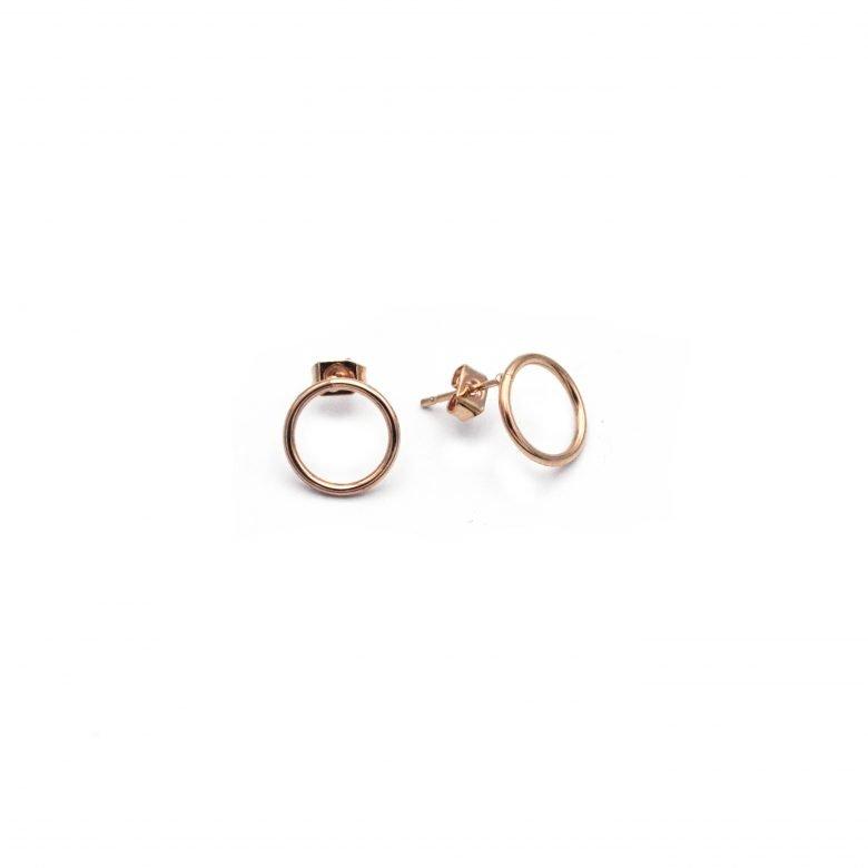 Puces anneaux mini or rose