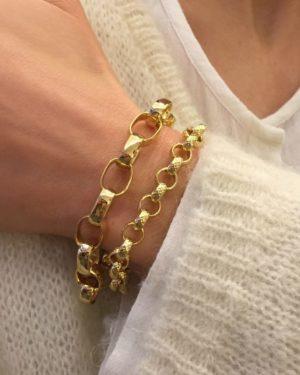 Bracelet Chloé GM doré à l'or fin