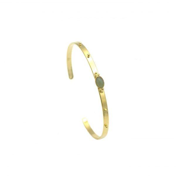 Jonc bracelet Mya avec pierre aventurine